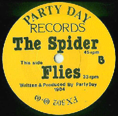 Party Day - 'Spider' label design (b side)